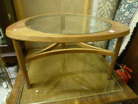 A 1960s Nathan Atomic Design Glass topped Triangular Coffee Table