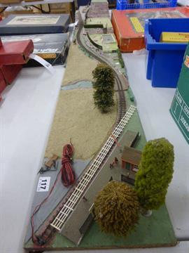 009 N Gauge Model Railway layout 7ft x 9ins approx