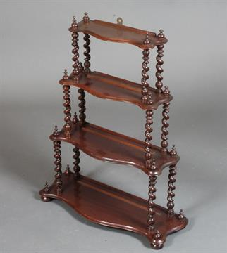 Antique Edwardian Mahogany Wall Mounted Shelves Whatnot Collectors Shelving Antiques Edwardian (1901-1910)
