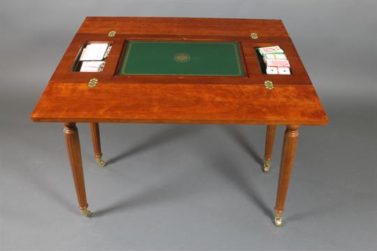 A Franklyn Mint Limited Edition House Of Faberge Imperial Mahogany Games  Table, The Interior Fitt
