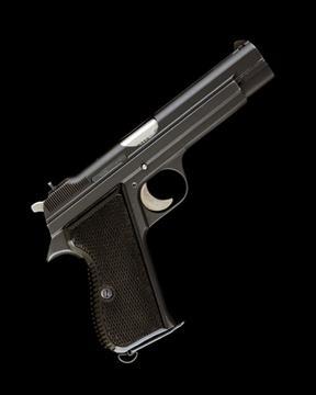 SIG SWITZERLAND A 9mm (PARA) SEMI-AUTOMATIC SERVICE-PISTOL MODEL
