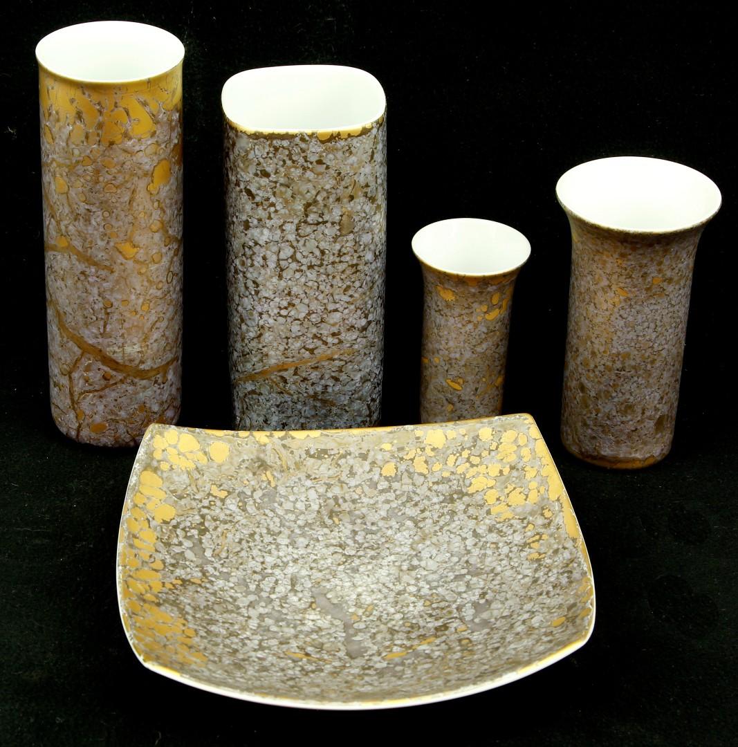 Five Pieces Of Rosenthal Studio Line Decorated In The Handgemalt