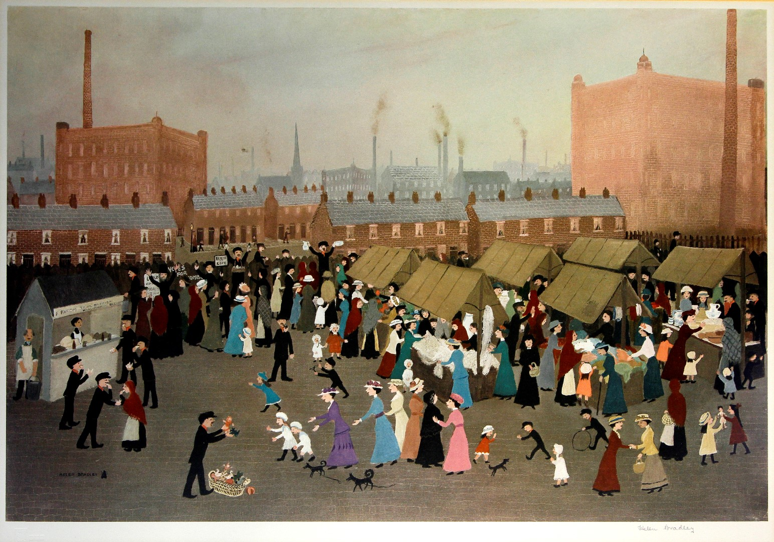 Helen Bradley Original Paintings For Sale