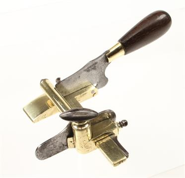 A Rare French Leather Workers Brass Plough By Blanchard
