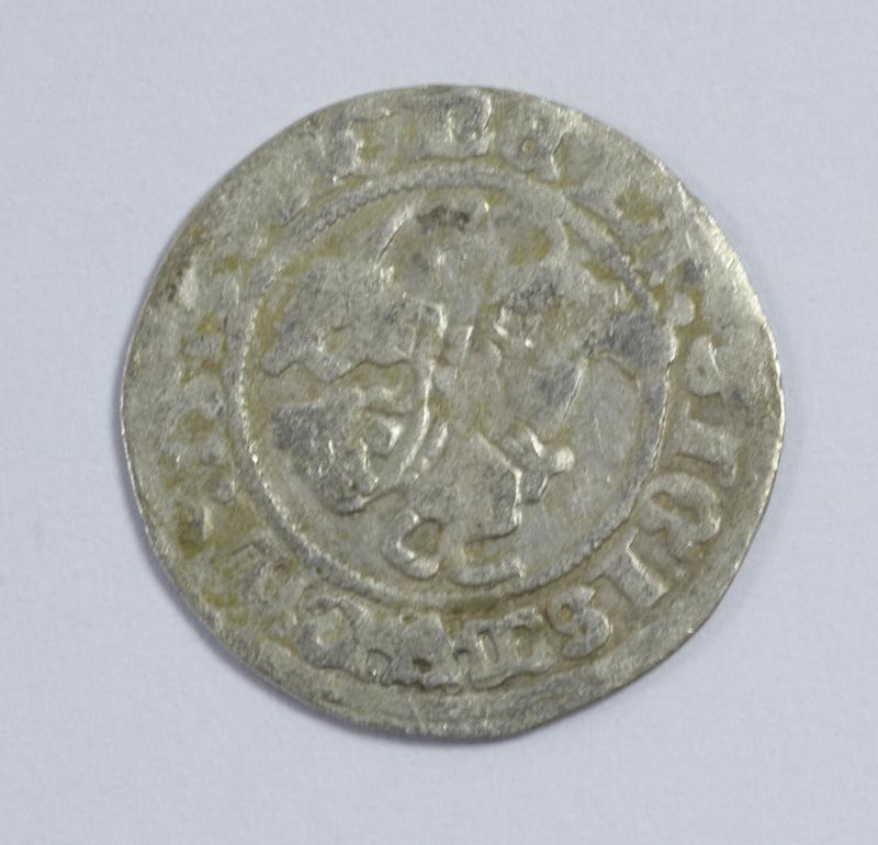 Lithuania, silver half groschen, obv. Horse & rider, 15th/16th Century, almost fine