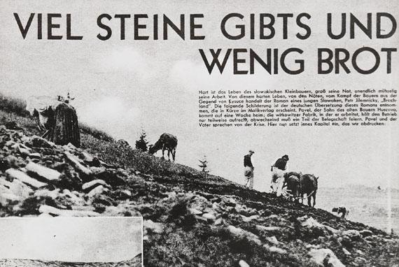 Lot 118 - `Die Fotografie zur Waffe zu schmieden`Blühová. - Sammlung von rund 48 Orig.-Schwarzweiß-