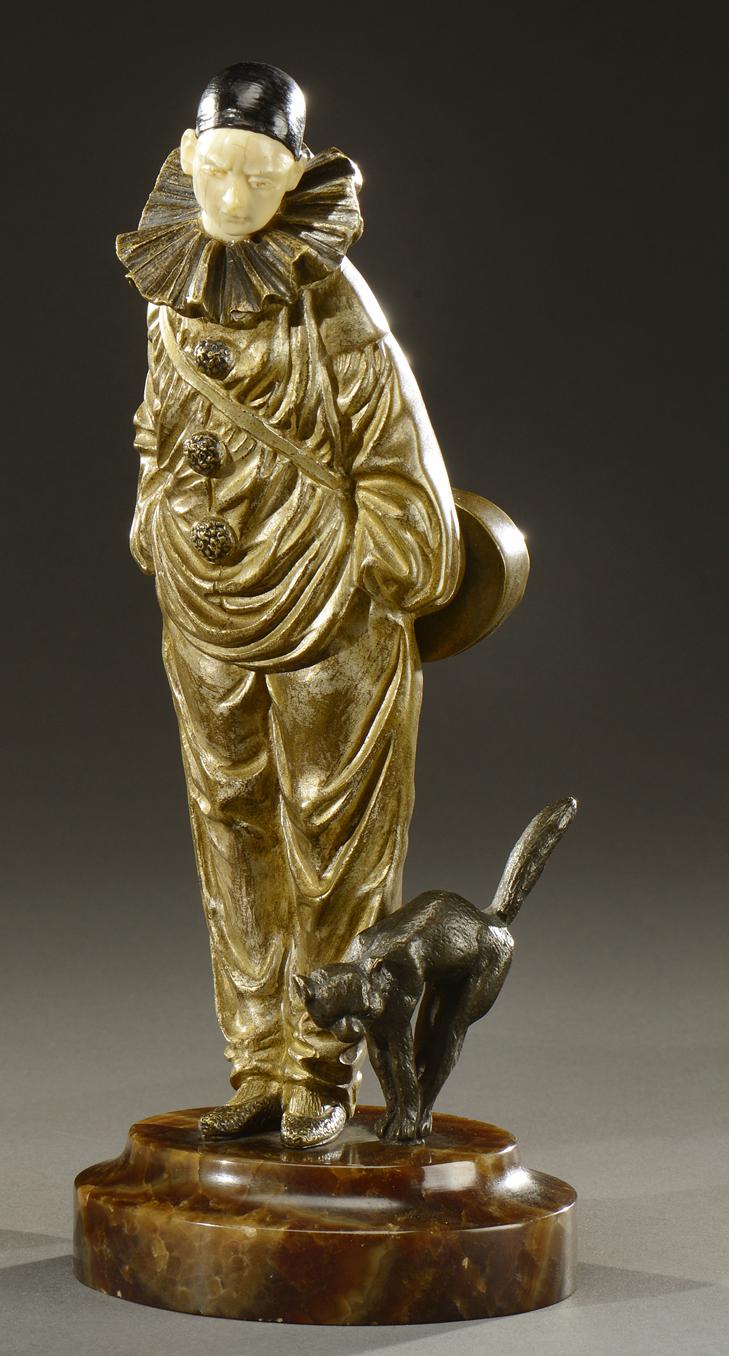 richard d apr s un mod le de georges omerth sculpture chrys l phantine en bronze patine argent. Black Bedroom Furniture Sets. Home Design Ideas