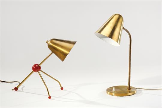 Otto Kolb Lampe De Table En M 233 Tal Dor 233 Et Bak 233 Lite