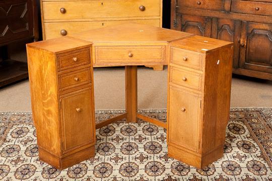 art deco corner table art deco heal and son of london oak corner desk with arrangement