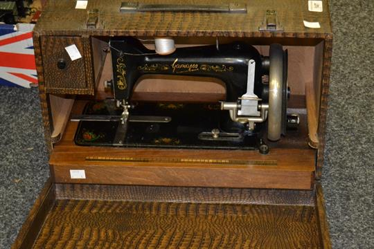 A Cased Gamages Sewing Machine Cool Gamages Sewing Machine