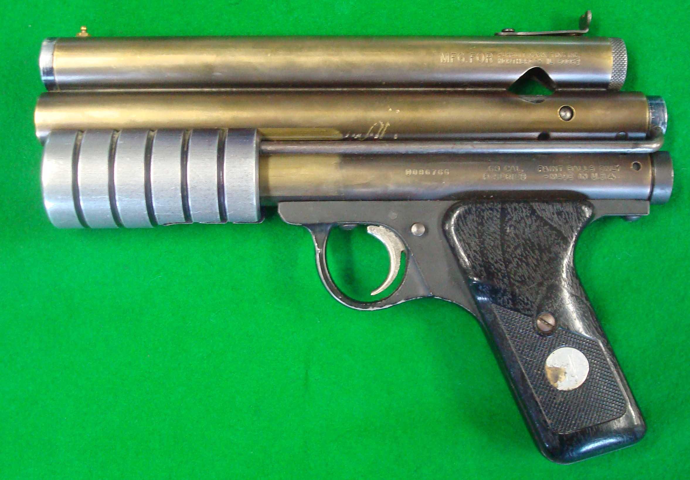 Benjamin Sheridan Corp model PGP Pump Paintball Pistol: The