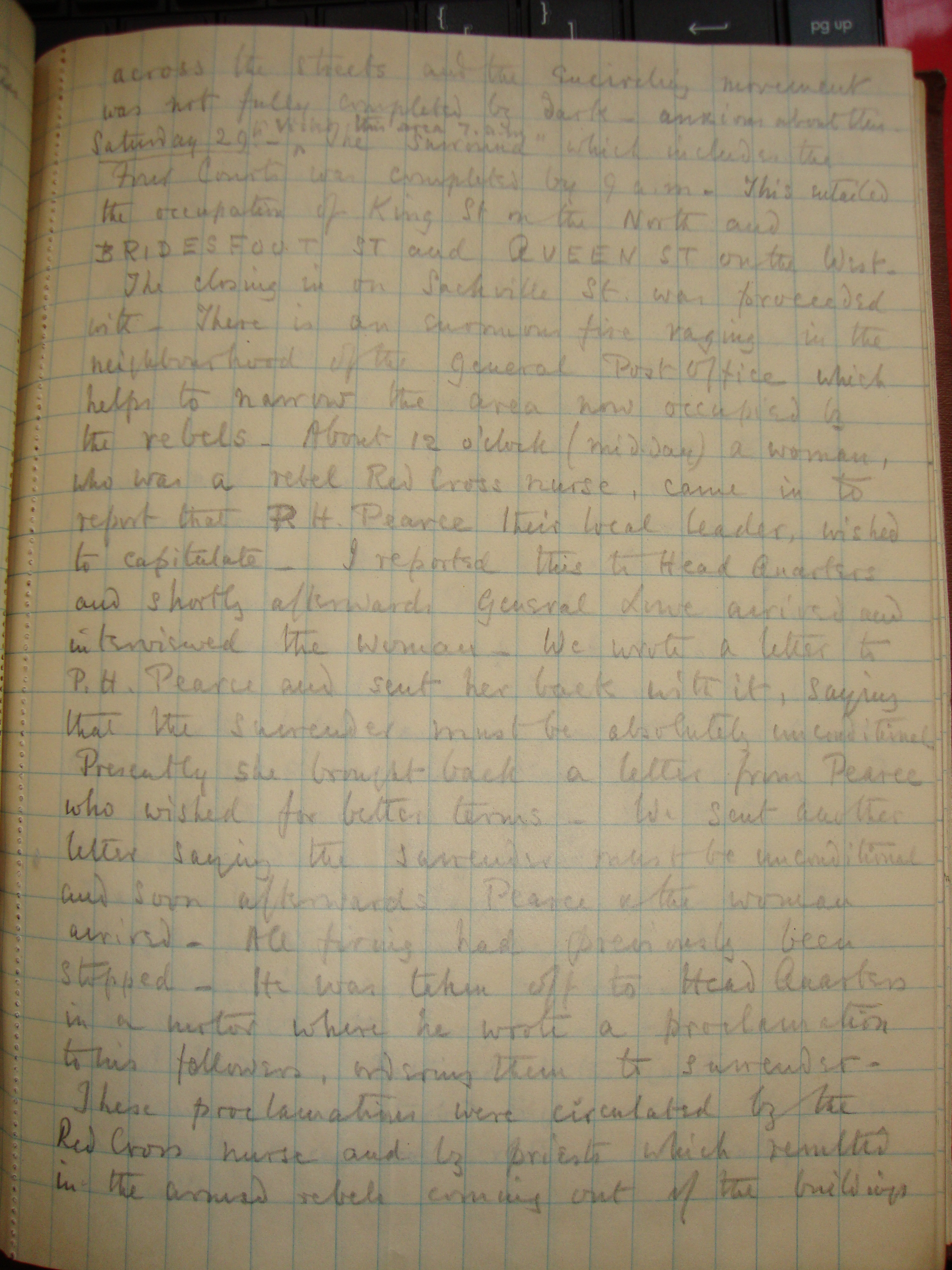 Ireland – The Easter Rising – The Diary of Colonel Bertram Portal detailing the Easter Rising in