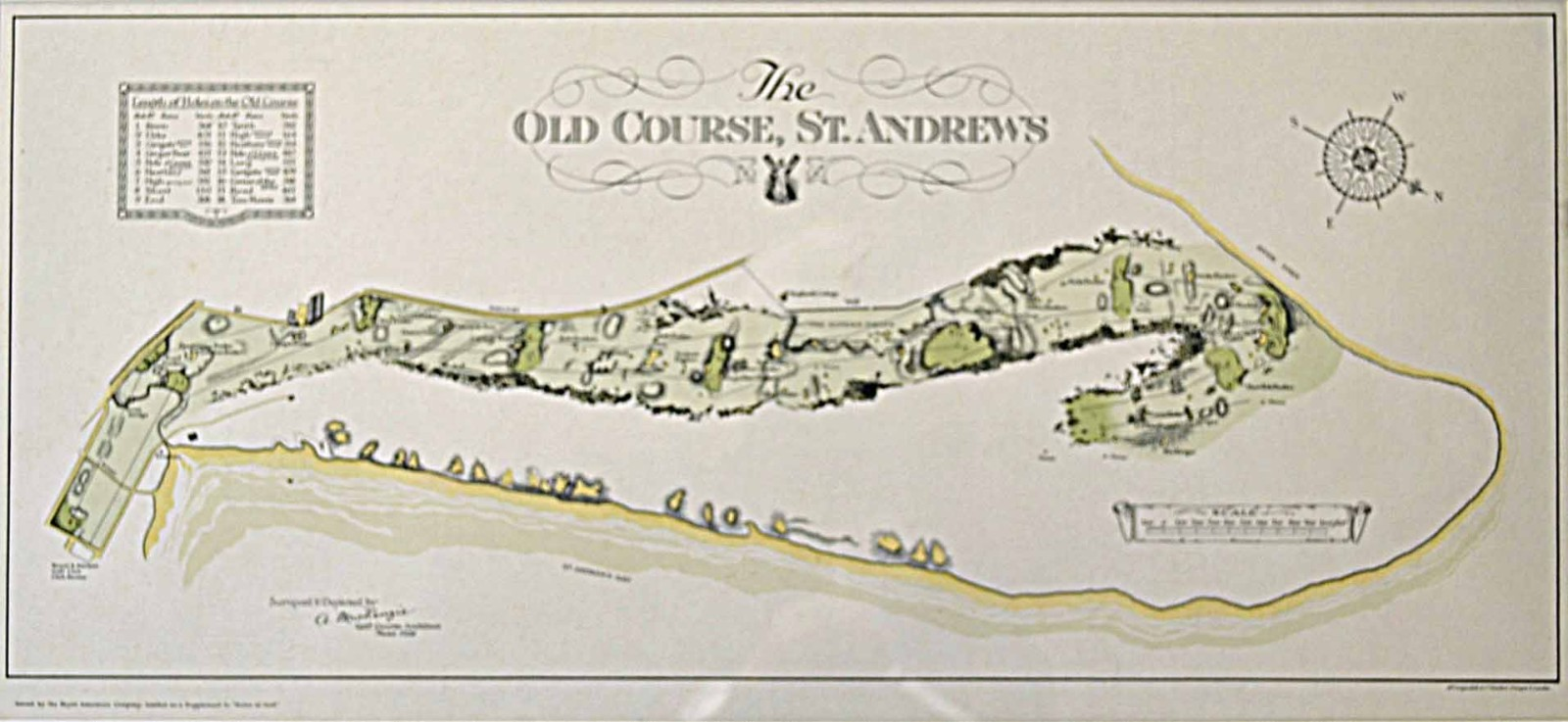 "A McKenzie Golf Course Architect ¢€"" ""Map of the Old Course St"