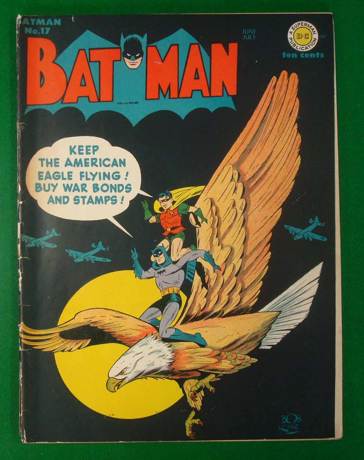 Dc comics batman number 17 june july 1943 keep the american eagle flying buy war bonds and sta - Buying premium bonds from post office ...