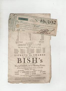 Lottery Ticket 1804 original lottery ticket for the Second