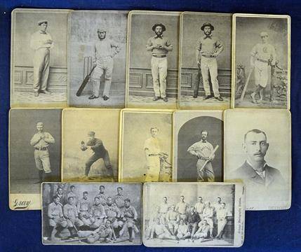Rare 1863 US Cricket Baseball Crossover Cabinet Cards To Incl 13