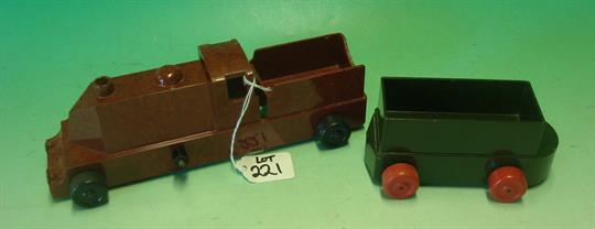 Rare Vintage Chad Valley Bakelite Toy Train & Truck: This very hard ...