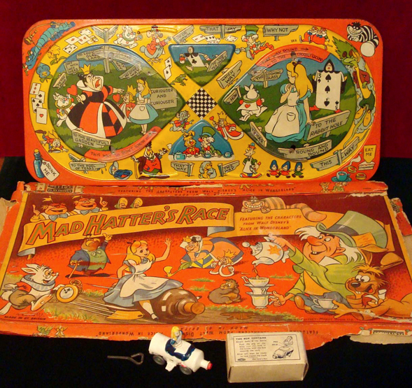 Lot 272 - Mettoy Alice in Wonderland Mad Hatters Race Track: c.1950s, Very rare track toy with detailed