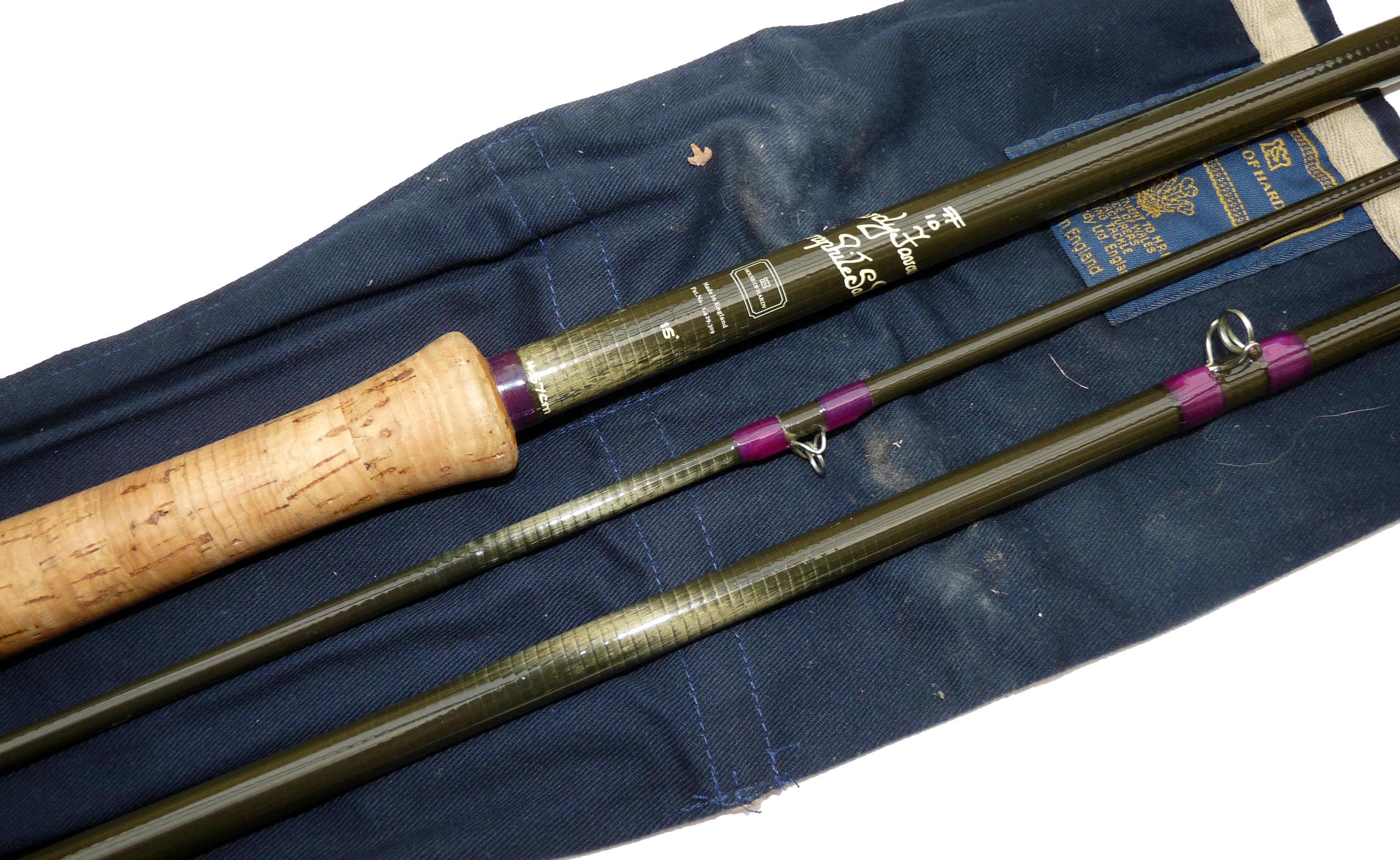 Rod hardy favourite graphite salmon fly rod 15 3 piece for Purple fishing rod