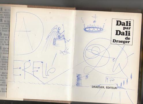 Original art by Salvador Dali ? original sketch signed with