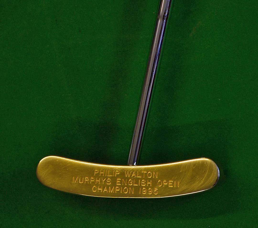 Ping B90 24ct Gold Plated Broom Handle Putter Awarded To