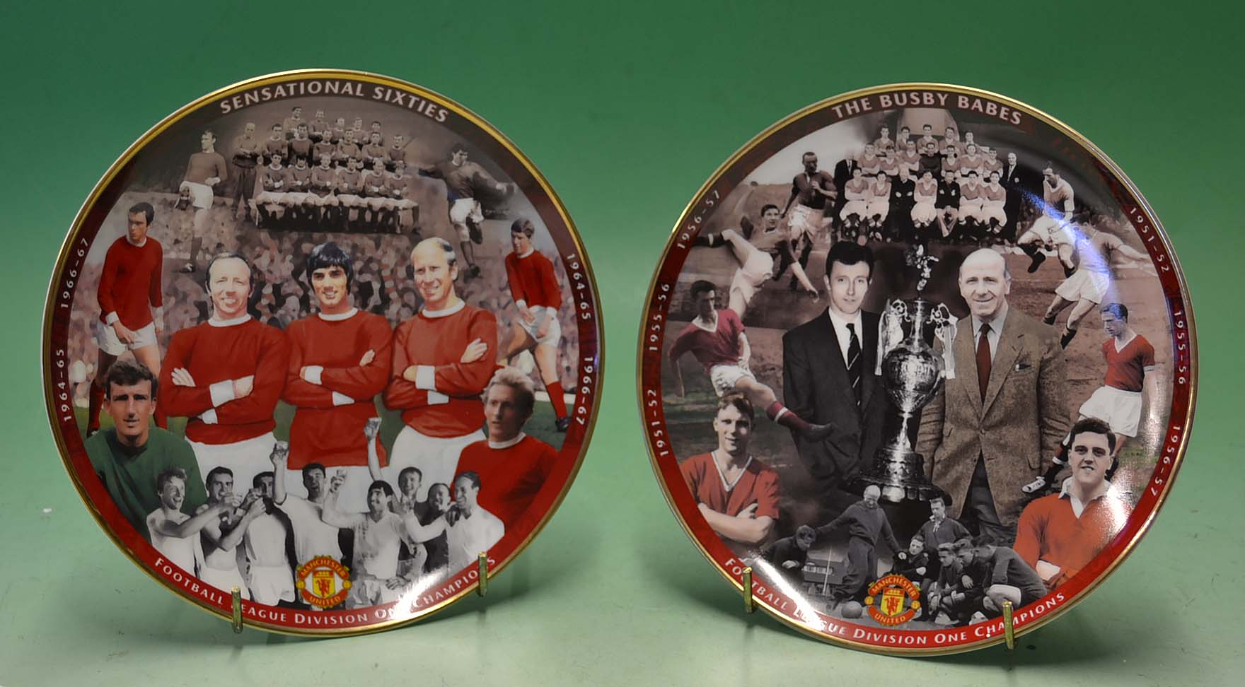 danbury mint manchester united past years plates 8 inch. Black Bedroom Furniture Sets. Home Design Ideas