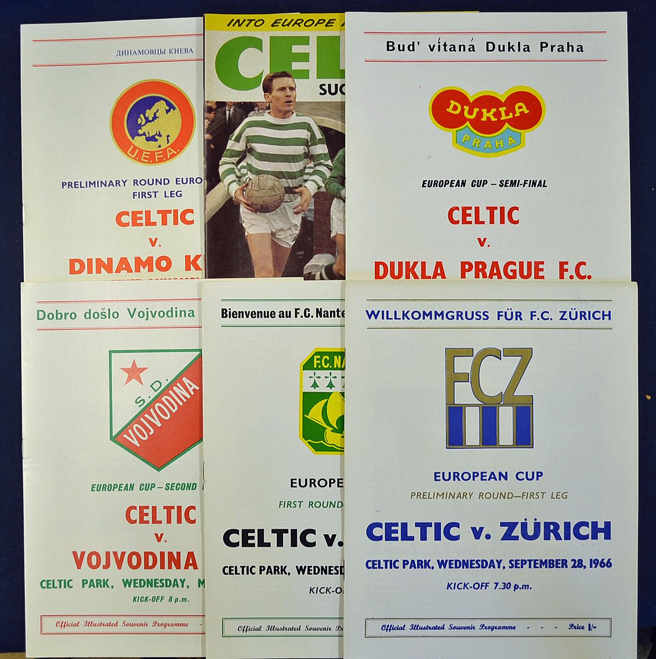 Glasgow Celtic Football Programme Selection All 1966/67