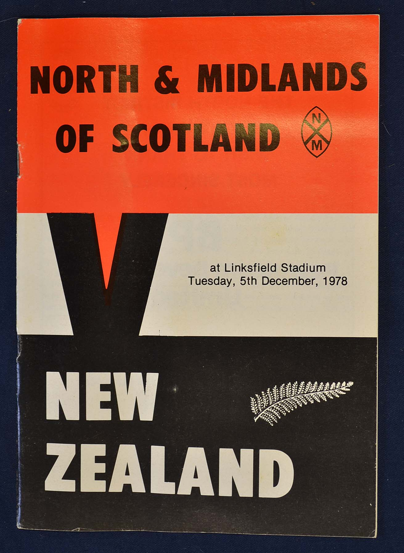 Lot 957 - Scarce 1978 North and Midlands of Scotland v New Zealand rugby programme – played at Links Field