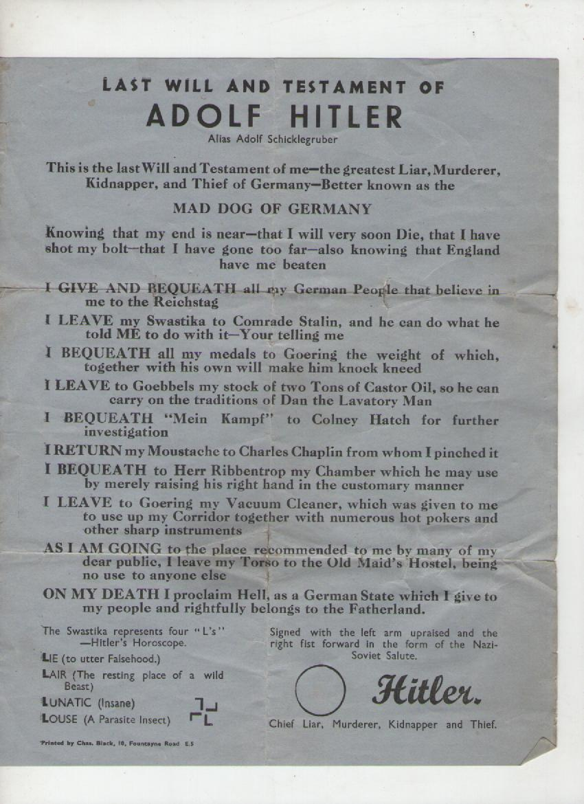 Hitlers Will