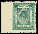 I.F.S. BARWANI1921 (Mar?) Clear impression, medium wove paper, perf 7 all round, ¼a dull blue-