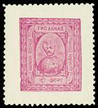 I.F.S. BARWANI1933-47 Wide setting 2a bright purple (SG 40B) well centred and fresh, u/m, cat £130