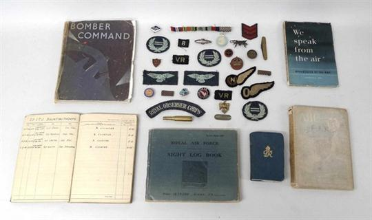 Militaria: a quantity of RAF memorabilia relating to navigator FA