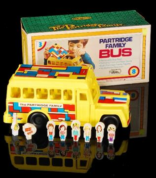 The Partridge Family - A boxed Remco family bus with