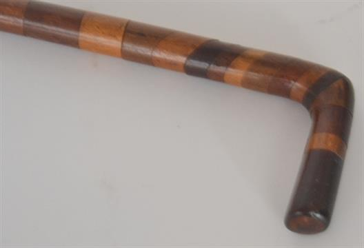 A 19th Century exotic wood sectioned walking stick in the