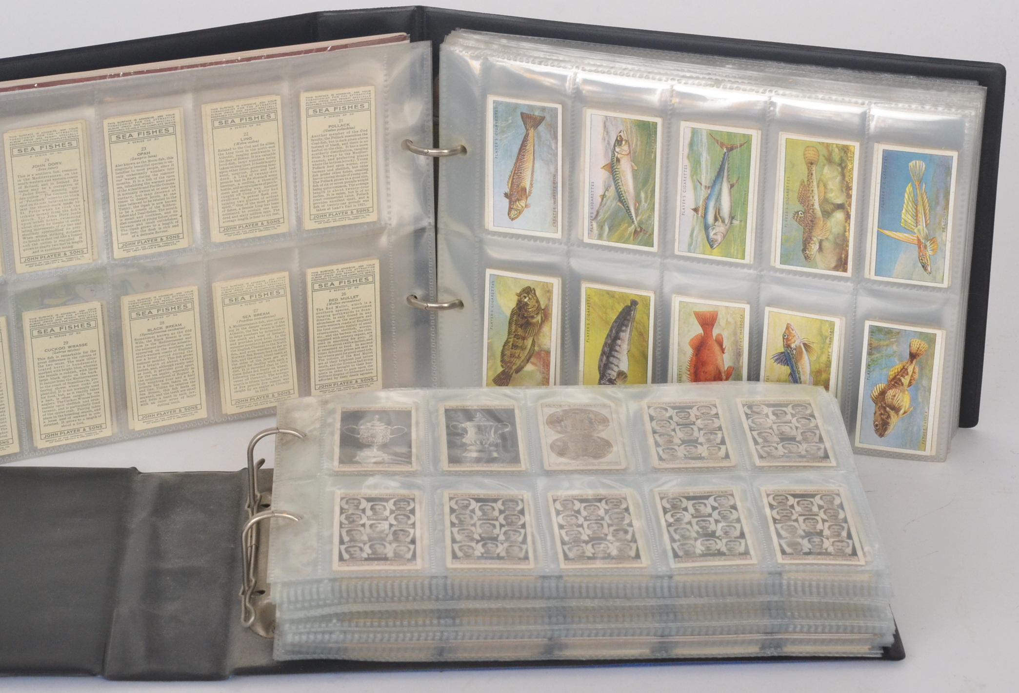 Lot 234 - An album of cigarette cards containing various sets, Players Association cup winners, footballers