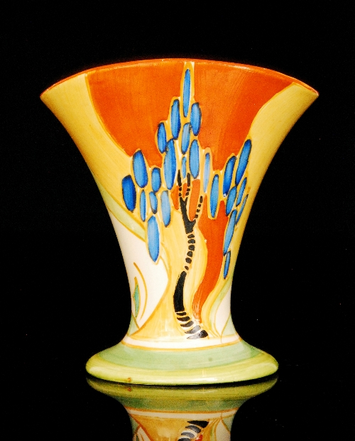 Clarice Cliff Windbells A Shape 212 Vase Circa 1933 Hand Painted