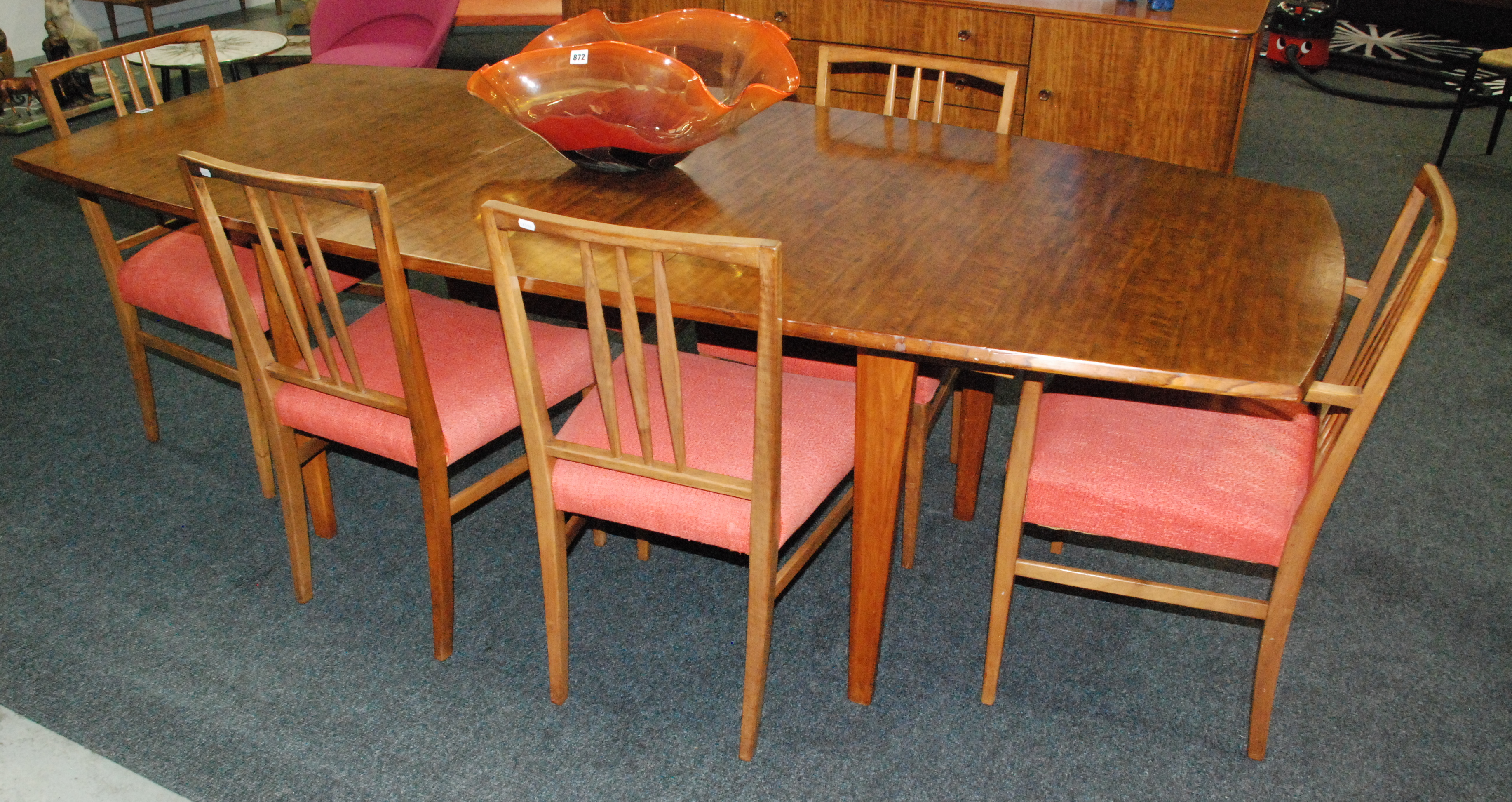 Gordon Russell Furniture A Teak Dining Table And Six Antler