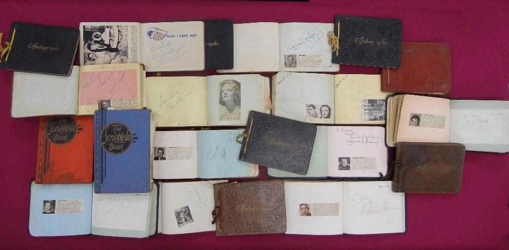 Lot 31 - Hollywood Time Capsule. Very important Golden Age of Hollywood Autograph Collection.Between the