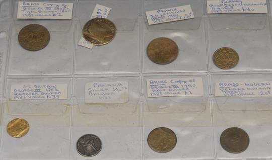 foto de Coins, Charles II, Gold Guinea, 1667, creased as a love token ...