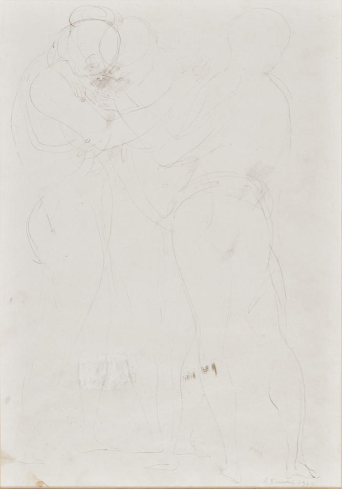 Lotto 243 - RICCARDO TOMMASI FERRONI (Pietrasanta 1934 - Pieve di Camaiore 2000)  Nudes 1963  Ink on paper era,