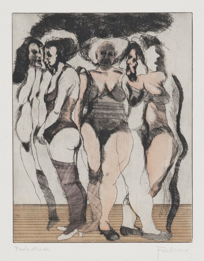 Lotto 261 - GERMAN ENGRAVER, 20TH CENTURY  Nudes  Lito, ex. Probedrick  Measurements of the sheet, cm. 65 x 50
