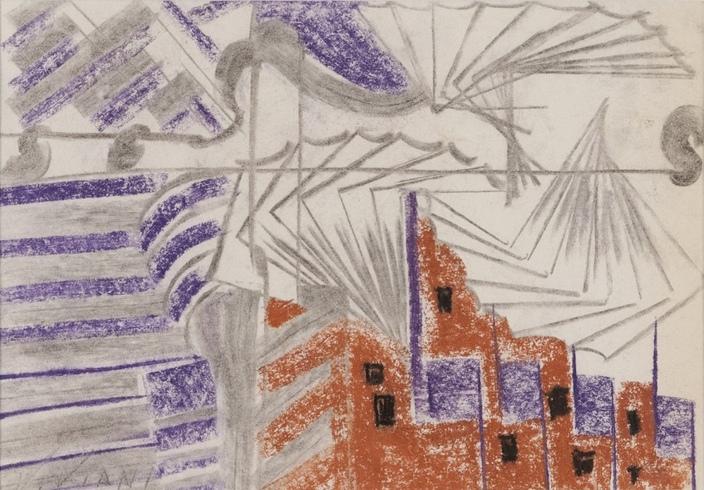 Lotto 273 - ITALIAN PAINTER, 20TH CENTURY  Urban Views  Mixed media on paper, cm. 19 x 26  Signature `Viviani`,
