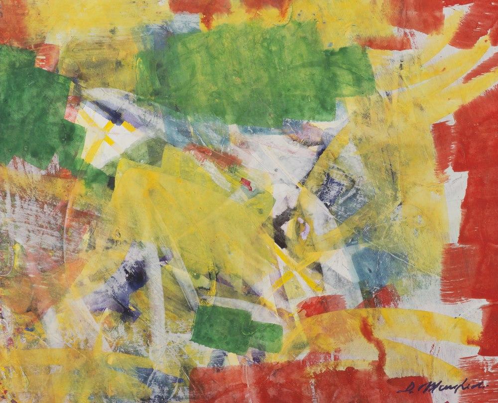 Lotto 283 - DOMENICO MANFREDI (Milan 1916-2006) Untitled Oil on paper, cm. 40 x 50 Unsigned