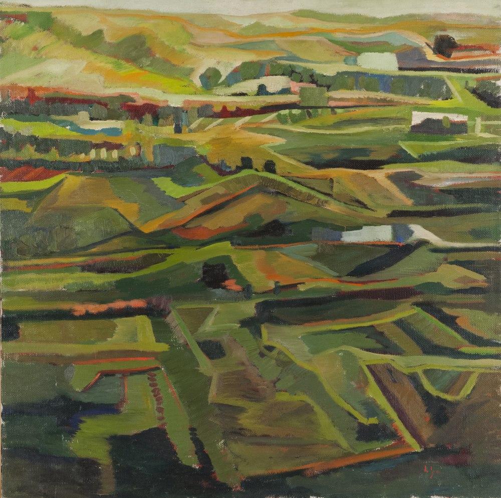 Lotto 286 - MARIO LIGA  (20th century)  Landscape  Oil on canvas, cm. 100 x 100  Signature bottom right