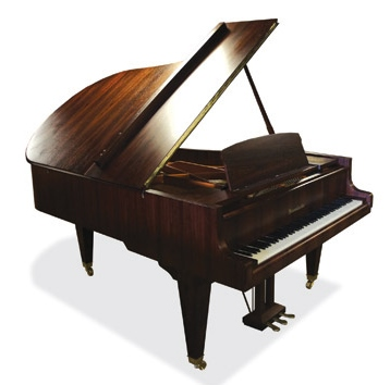 Lot 10 - Bösendorfer (c1987)  A 6ft 7in Model 200 grand piano in a satin walnut case on square tapered legs.