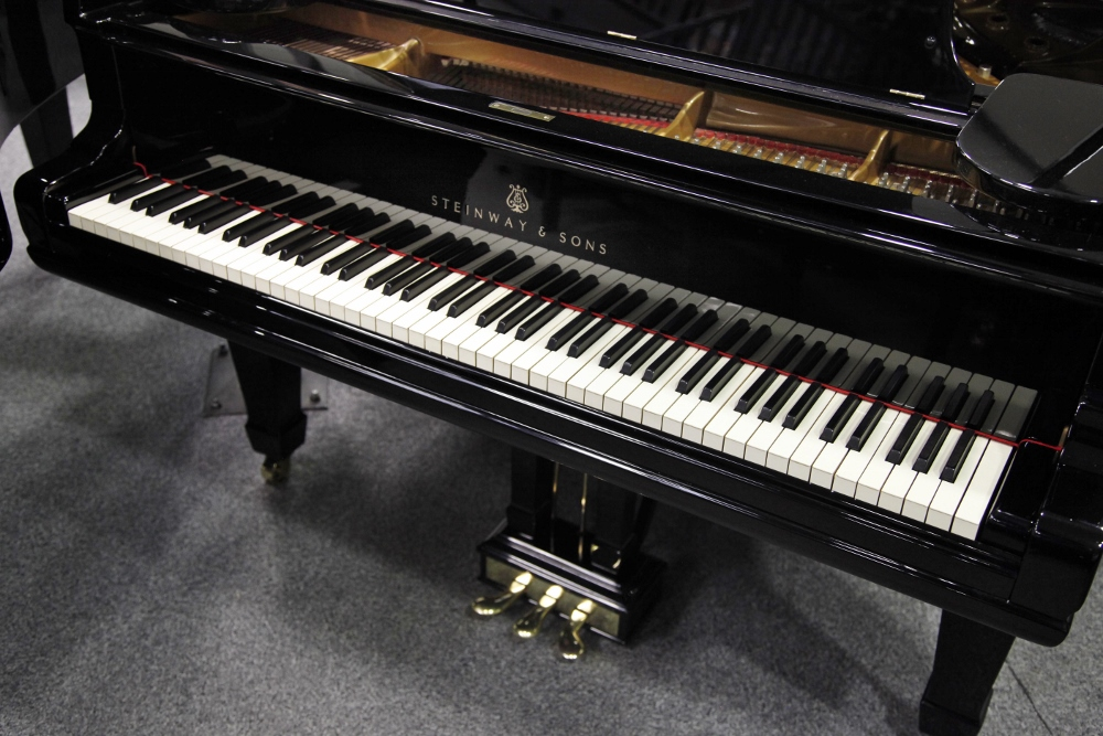 Lot 11 - Steinway (c1902) A 6ft 11in Model B grand piano, 88 note and three pedal, in a bright ebonised case.