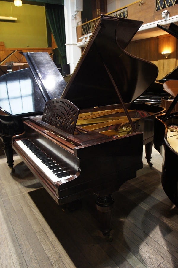 Lot 19 - Pleyel   A 6ft 6in grand piano in a rosewood case on turned legs.