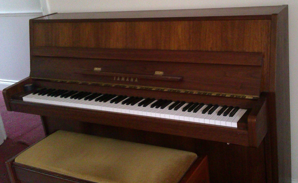 Lot 2 - Yamaha (c1994)  A Model MP80 Silent Series upright piano in a satin walnut case, together with a