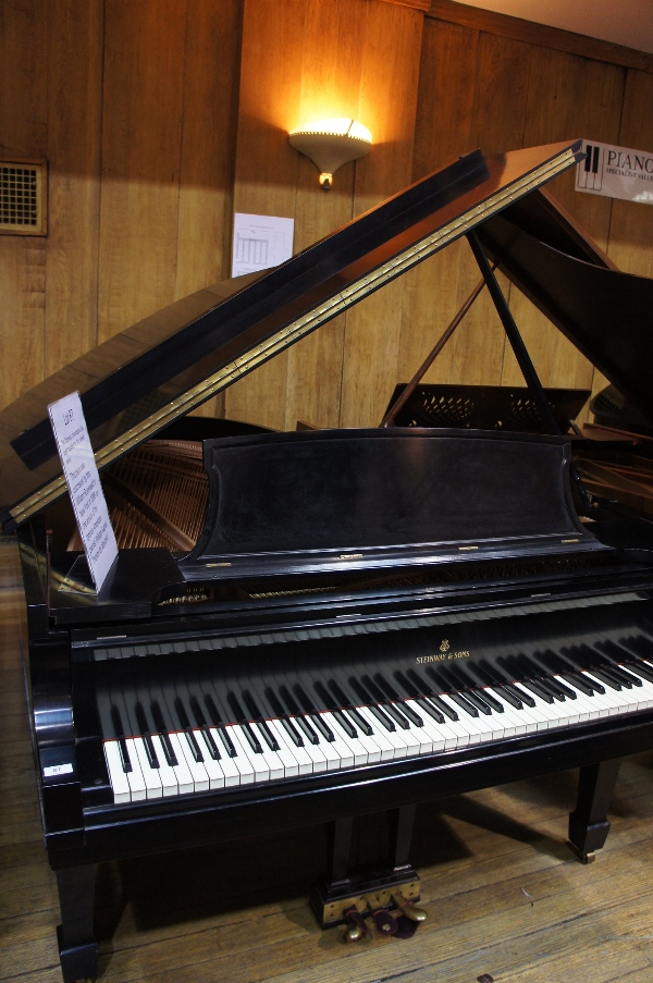 Lot 21 - Steinway New York (c1956)  A 6ft 11in Model B New York grand piano in a satin ebonised case on