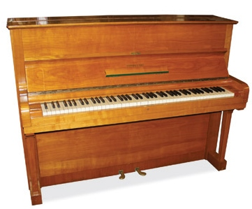 Lot 3 - Steinway (c1962)  A Model Z upright piano in a light walnut case.
